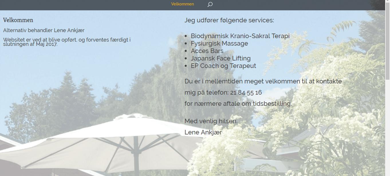 Lene Ankjær - Fysiurgisk massør, Kranio-Sakral Terapi, Japansk facelifting,